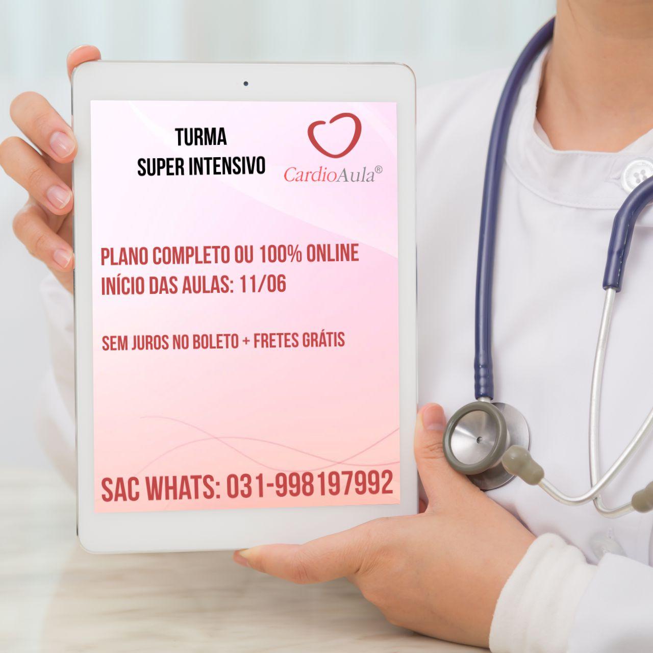 CardioAula TEC 2019 - EXTENSIVO - 350 Horas / aula com 8 apostilas Exclusivas EM CASA - Curso preparatório para prova de Título de Especialista em Cardiologia