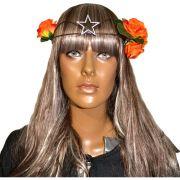 Circlet Estrela com Flores Laranja
