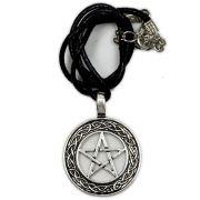 Colar Banhado a Prata - Pentagrama Céltico