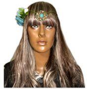 Coroa de Flores Mandala Azul
