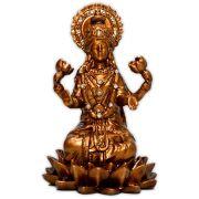 Deusa Lakshmi da Prosperidade e Beleza - Dourado Envelhecido