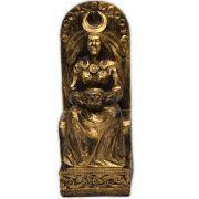 Deusa da Lua no Trono - Dourada