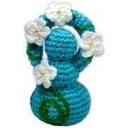 Deusinha de Crochê - Azul Claro