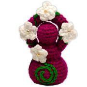 Deusinha de Crochê - Rosa