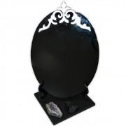 Espelho Negro com Base - Turmalina Negra e Ametista mod. 2