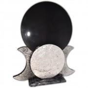 Espelho Negro - Triluna Prateado