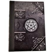Grimório 300pg. (sem pautas) - Pentagrama Preto