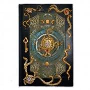 Livro das sombras peq - Tríquetra (dourada)