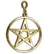 Pingente de Parede - Pentagrama Dourado