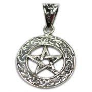 Pingente de Prata de Lei (prata 950) - Pentagrama mod. 10