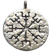 Talismã Elm of Awe (feminino), de Proteção - Banhado a Prata