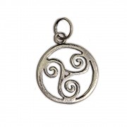 Talismã Triskle, Símbolo do Ciclo de Nascimento-Morte-Renascimento - Prata 950
