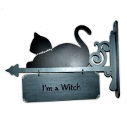 Placa I'm a Witch / Blessed Be