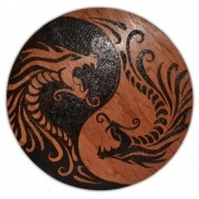Quadro Dragão yin yang