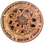 Roda do Ano/ Signos do Zodíaco 25cm - Nó Celta