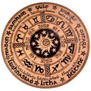 Roda do Ano/ Signos do Zodíaco 25cm - Pentagrama Sol e Lua