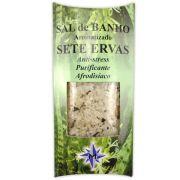Sal de Banho Aromatizado Sete Ervas - Anti Stress, Purificante e Afrodisíaco
