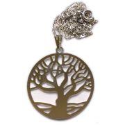 Talismã Colar Árvore da Vida, Criação e Imortalidade - Prateado