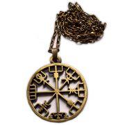 Talismã Bússola Viking - Bronze