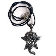 Talismã Colar - Dragão Pentagrama