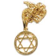 Talismã Colar Hexagrama - Dourado Pequeno