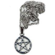 Talismã Colar Pentagrama - Prateado Mini