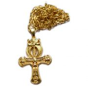 Talismã Cruz Ansata - Dourado