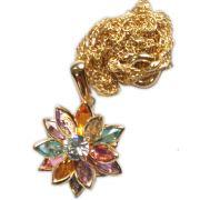 Talismã Flor de Lótus - Dourado com pedras