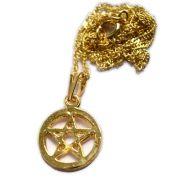 Talismã Colar Pentagrama - Dourado Mini