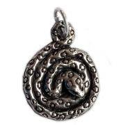 Talismã Pingente Serpente Enroscada, Símbolo da Criação