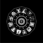 Toalha Mandala Astrológica Yggdrasil - Preto