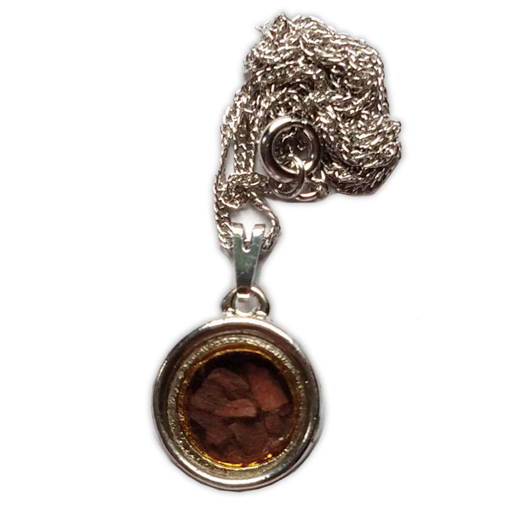 Amuleto Canela - Prateado Médio