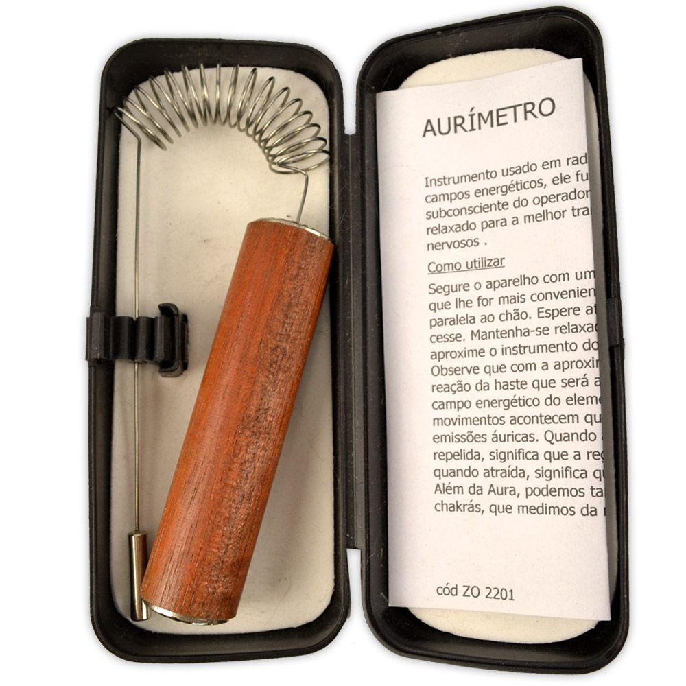 Aurímetro Medidor de Campos Energéticos - Com Caixa
