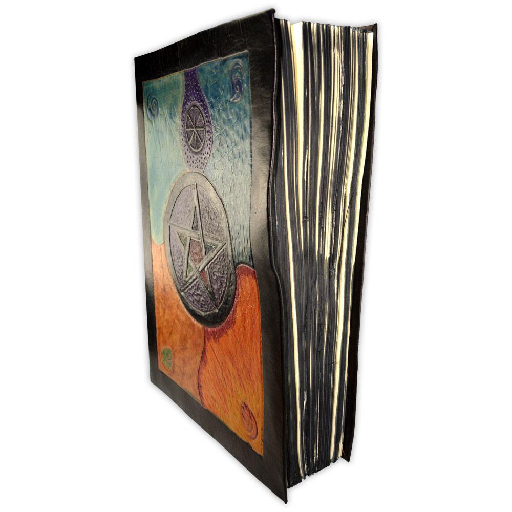 Mega Book Of Shadows em Couro e Papel Pergaminho 500fls
