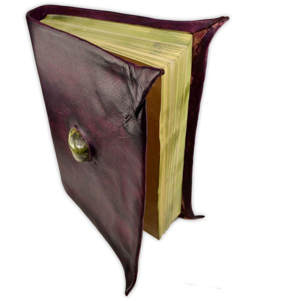 Book Of Shadows em Couro e Papel Pergaminho 200fls - Modelo 2