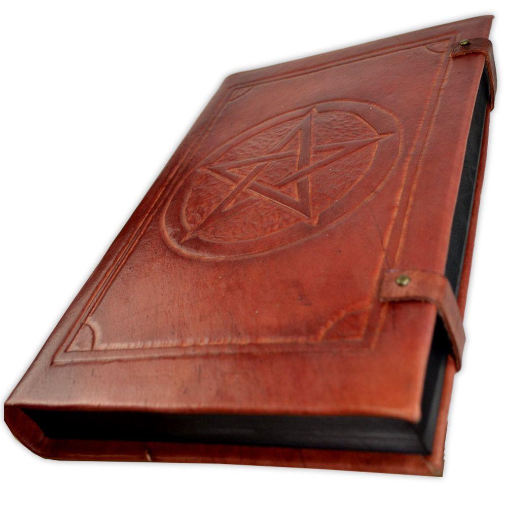 Book Of Shadows em Couro e Papel Pergaminho 200fls - Modelo 3