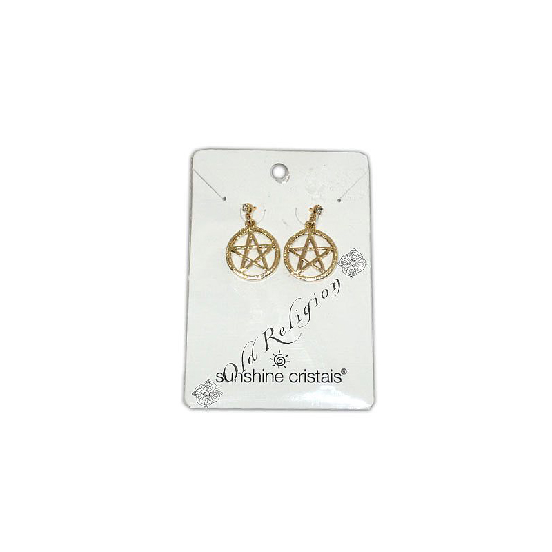 Brinco Pentagrama - Dourado Pequeno