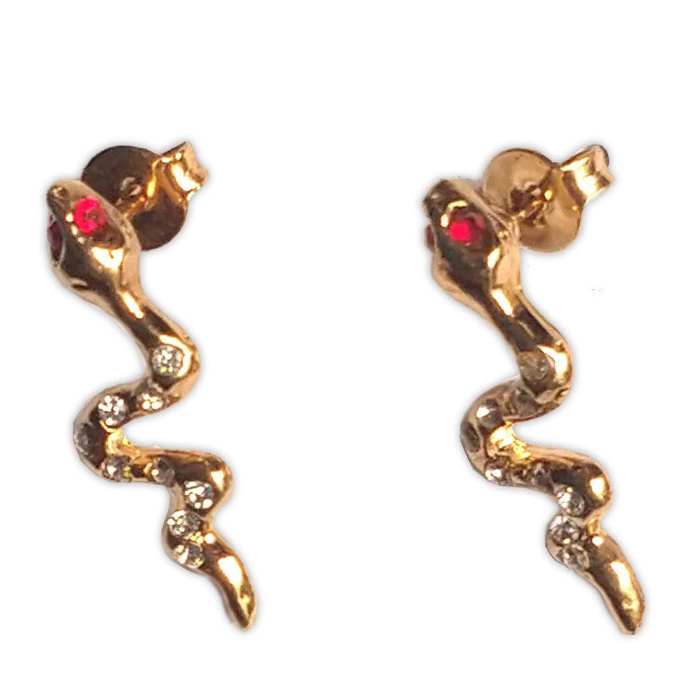Brinco Serpente - Dourada