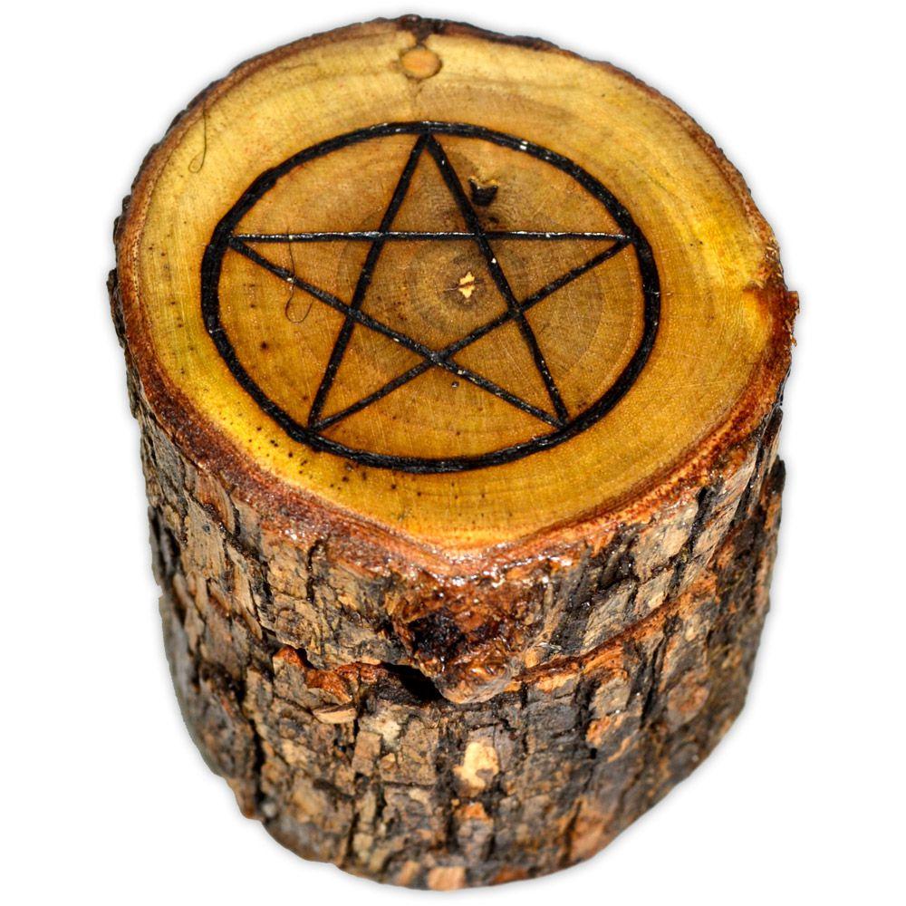 Caixa Mágica de Cedro - Pentagrama