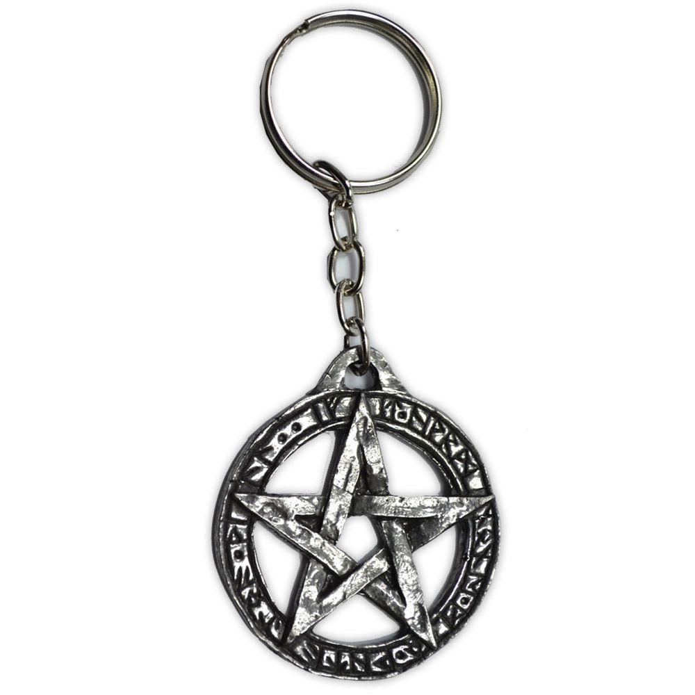 Chaveiro Talismã Pentagrama - Lei Wicca