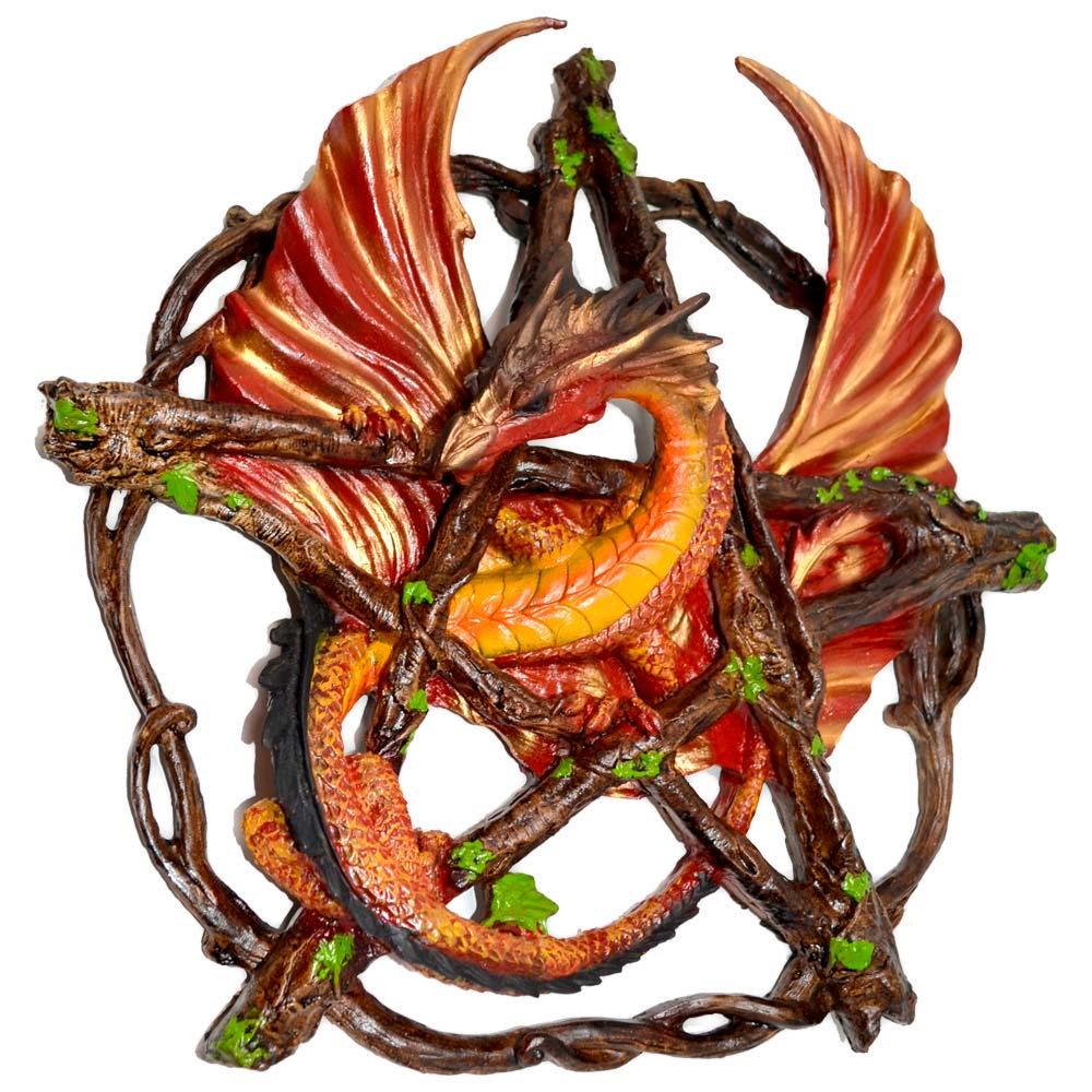 Dragão no Pentagrama - Vermelho