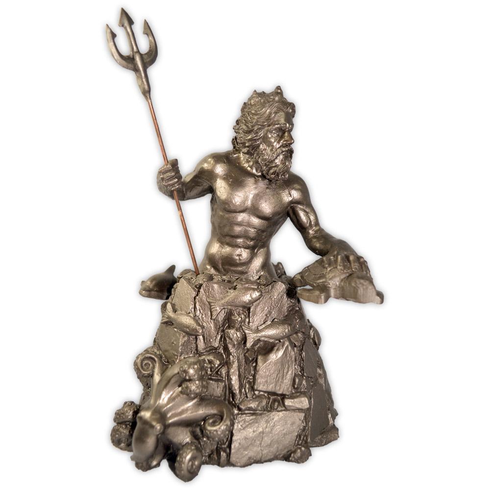 Deus Poseidon - prateado