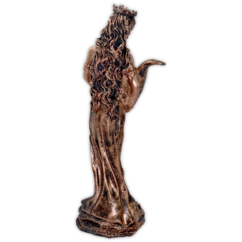 Fortuna, Deusa da Prosperidade e do Destino - Dourado Envelhecido