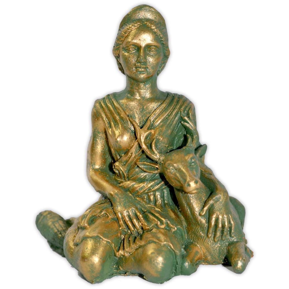 Deusa Diana - dourado