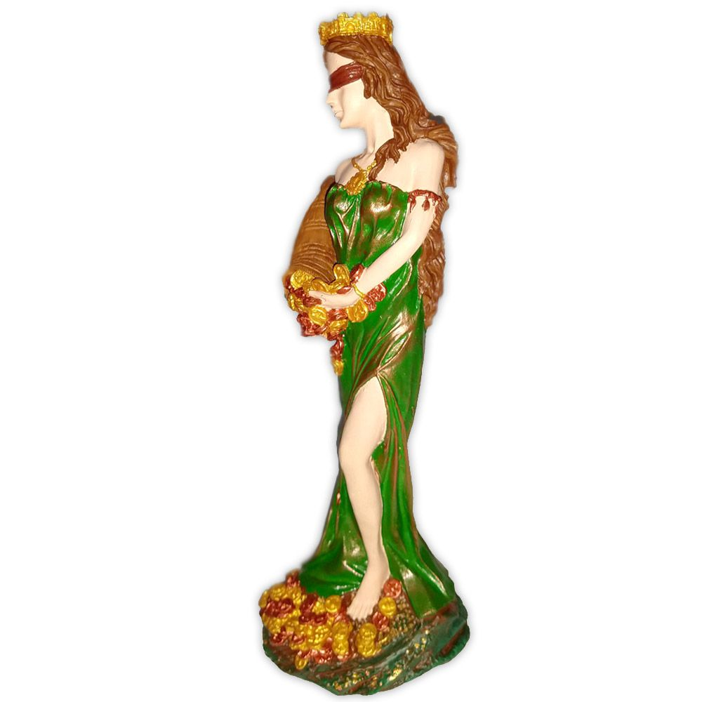 Deusa Fortuna, Prosperidade e Destino - Pintada a Mão
