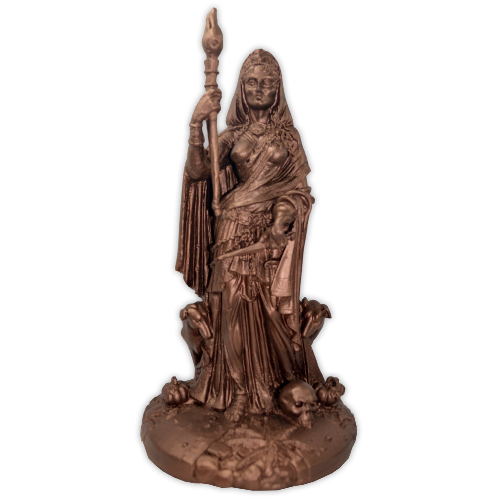 Hécate, Deusa do Submundo - Dourado Envelhecido