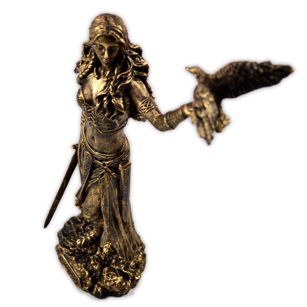 Deusa Morrigu - Dourada