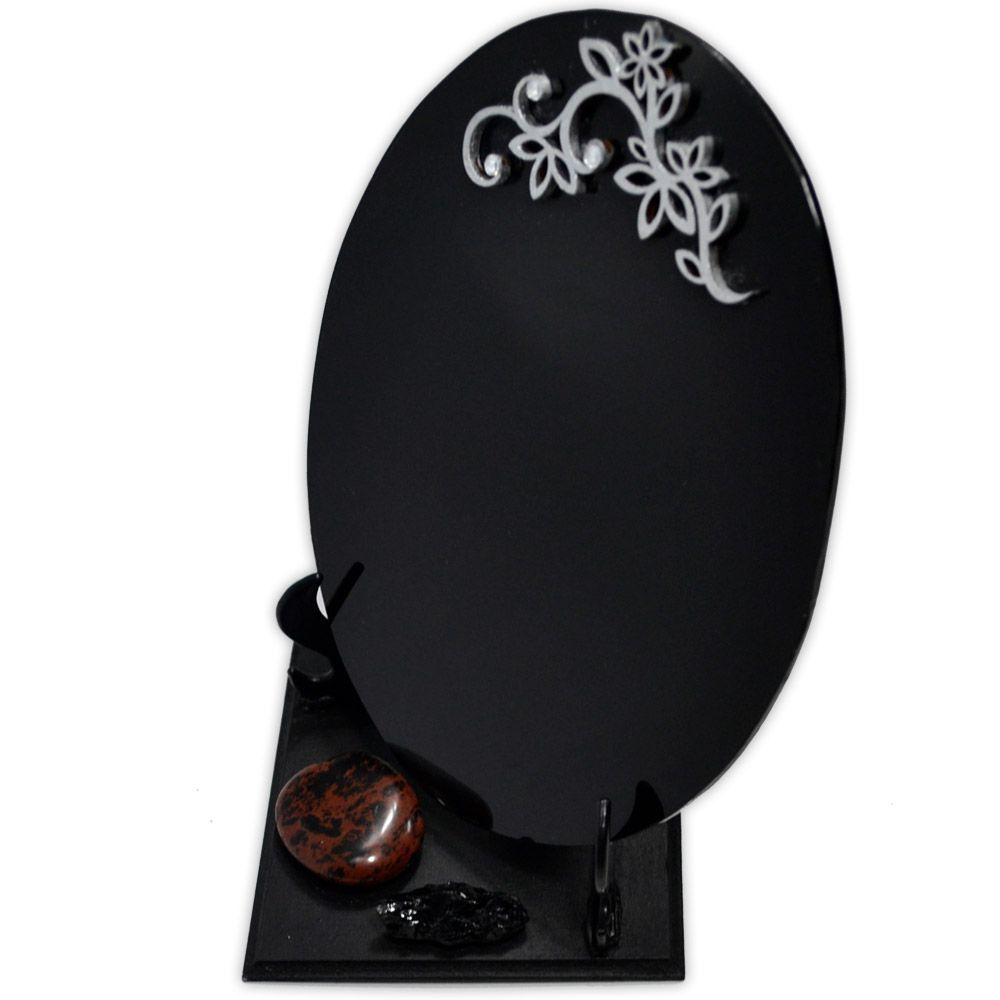 Espelho Negro com Base - Turmalina Negra