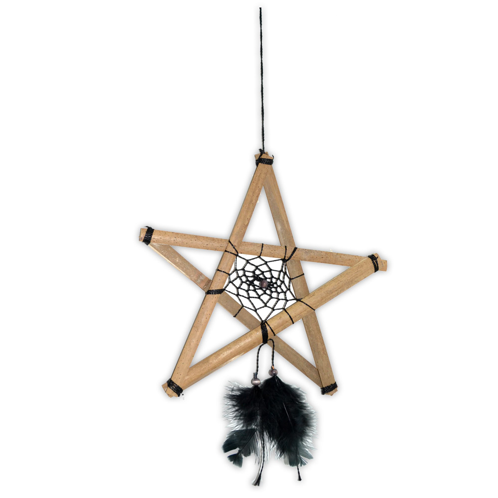 Filtro dos Sonhos Pentagrama - Preto