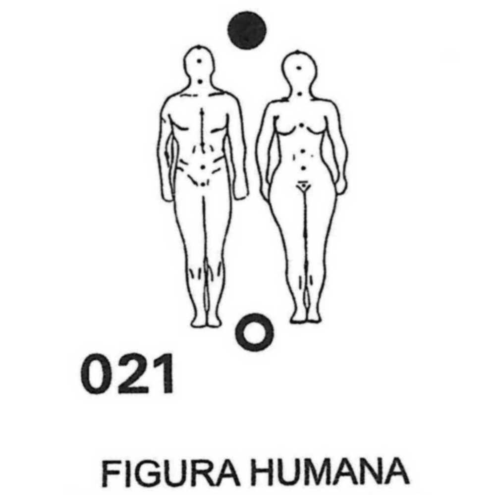 Gráfico Figura Humana PVC 2200